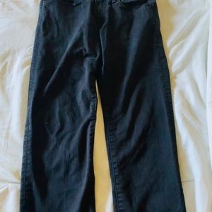 Black faded jeans for men